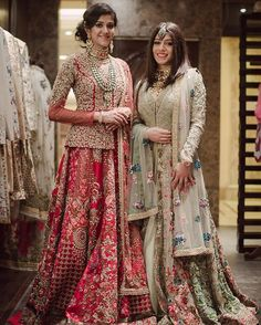 These brides to be were part of #wmgredcarpet at @varunbahlcouture ! With gorgeous outfits by @varun_bahl , photography by @avirajsaluja and makeup by @_shrutisharma read all about bride shivanis experience on the WedMeGood blog Jewellery by the exquisite @thegempalace_ #lehenga #indianbride #brides #weddings #indianweddings #wedmegood #varunbahl #red #bridal #weddingday #indianwear #indianfashion #mint #red #lehenga #bridallehenga #peolum #jewelleryfashion #wmgshoot #fashion