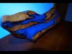 Wooden disk epoxy test - YouTube