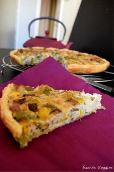 Sacrés Veggies- quiche aux poireaux vegan 2 Tacos, Sport, Breakfast, Ethnic Recipes, Food, Cooking Food, Meal, Leek Quiche, Vegetarian Cooking