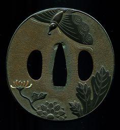Japanese Sword Tsuba - Rare Murakami School Tsuba