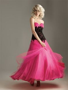another pink and black dress <3