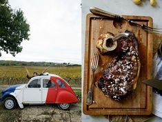 Grilled ribeye with shallots and bone marrow....in France!