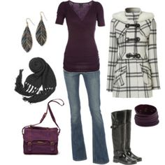 Fun casual outfit...love the boots nd the coat