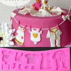 JP Lovely Baby Clothes Shaped Silicone Chocolate Mold Fondant Cake Decor