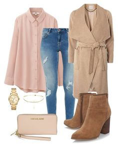 """""""Basic"""" by sugarbubbles ❤ liked on Polyvore featuring Uniqlo, Ted Baker, Dorothy Perkins, Nine West and Michael Kors"""