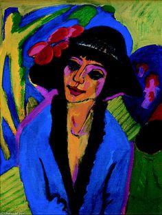 Portrait of Gerda, 1914 by Ernst Ludwig Kirchner (1880-1938, Germany)