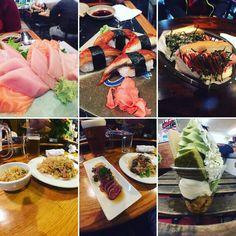 So much Japanese food in Vancouver!  #sushi #sashimi #unagi #japadog #kimchi #friedrice #tataki #udon #matcha #parfait #icecream #vancouver by ajustintam