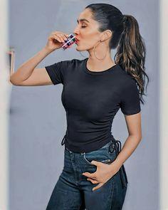 Indian Girls Images, Shraddha Kapoor, Indian Beauty, V Neck, Actresses, T Shirt, Tops, Women, Fashion