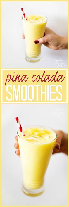 This Pina Colada Smoothie is simple to make and so delicious! No need to wait for your beach getaway to enjoy this tropically refreshing smoothie.