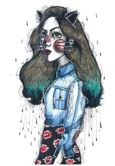 Doodles on Behance .. Illustration by Kathrin Honesta