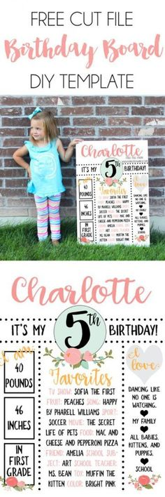 Free DIY Birthday Board SVG Cut File. How incredibly adorable is this Birthday Board?! Pop over to KimberDawnCo.com to get it for FREE! #cuttingboardsdiy
