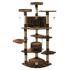 Go Pet Club Cat Tree Furniture Brown 80 inches High | Overstock.com Shopping - The Best Deals on Cat Furniture