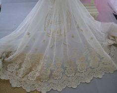 cream floral lace fabric - Google Search
