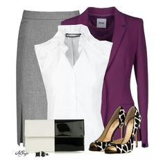 I like the plum with the gray and while, it is very classy.