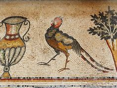 The Mosaics of Jordan: A photo gallery::Helen Miles Mosaics Stained Glass Patterns Free, Rare Orchids, Mosaic Birds, Ancient Ruins, Sacred Art, Roman Empire, Interior And Exterior, Photo Galleries, Moose Art
