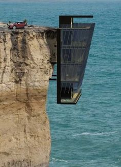 Cliff House | this would be one way to get over a fear of heights!