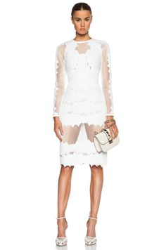 Burnout Brocade Long Sleeve Dress $1,493.00