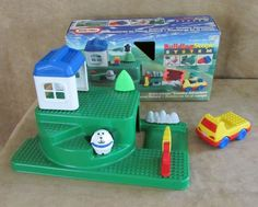 Little Tikes Building Scape playset car baseplate Lego compt Country Adventure #LittleTikes