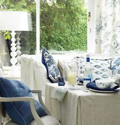 Robbie Goddard discovering and sharing white room decor ideas and wonderful related websites, NO AFFILIATION.  picture 142 Blue and White