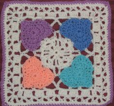 Beautiful Yarncrazy Crochet World Happy Hearts Heart Granny Square Of Fresh How to Crochet A Heart Granny Square Heart Granny Square Crochet Heart Blanket, Crochet Squares Afghan, Granny Square Crochet Pattern, Crochet Granny, Crochet Motif, Crochet Yarn, Crochet Hooks, Crochet Patterns, Granny Squares