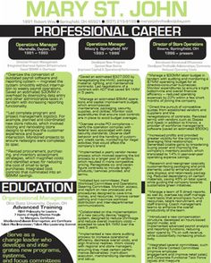 Graphically Designed Resumes U2014 Coming Soon!Graphical Resume Example 1
