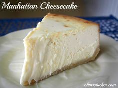 Manhattan Cheesecake Omgoodness the ingredients alown, 5 packages cream cheese!! This hahas to be good!
