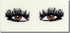 Eyes are so expressive I thought they would make fun designs. Add them to a T-shirt, put them on the back shoulder of a blouse, over a pocket, on hand towels or anywhere you want something a little different. Embroidery Designs For Sale, Embroidery Thread, Machine Embroidery Designs, Dog Outline, Black And White Owl, Tribal Wolf, Dog Eyes, Baby Owls, One Design