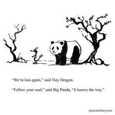 Big Panda, Bored Panda, Introvert Vs Extrovert, Dragon Quotes, Dragon Comic, Tiny Dragon, Better Life Quotes, Hurt Quotes, Spread Love