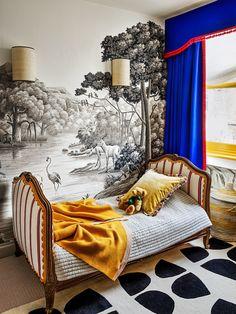 Home Interior Design .Home Interior Design Hand Painted Wallpaper, Painting Wallpaper, Of Wallpaper, Architectural Digest, Home Interior, Interior Decorating, Interior Design, Decorating Kitchen, Design Interiors