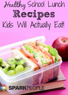 Healthy School Lunch Recipes Your Kids Will Love to Eat | via @SparkPeople #food #nutrition