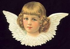 Angel Victorian Die-Cut Scrap  Ephemera