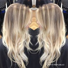 Image result for bright blonde balayage