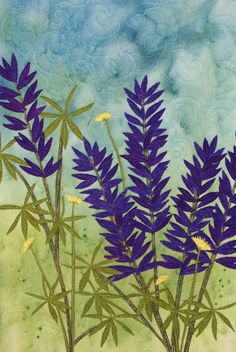 Lupine by Nancy Dobson | Textile Artist