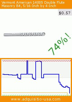 Vermont American 14005 Double Flute Masonry Bit, 5/16-Inch by 4-Inch (Tools & Home Improvement). Drop 74%! Current price $0.57, the previous price was $2.19. https://www.adquisitio-usa.com/vermont-american/14005-double-flute