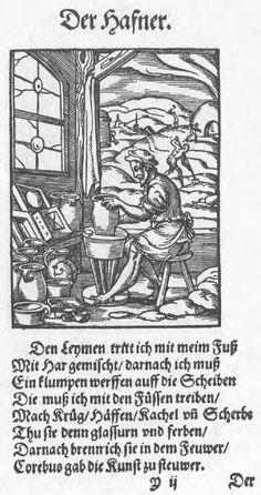 The potter.  Tradesmen & Craftsmen in the Ständebuch, 1568