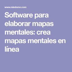 Software para elaborar mapas mentales: crea mapas mentales en línea