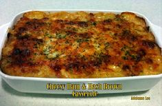 Cheesy Ham and Hash Brown Bake - Easy and oh so tasty! This meal can be used as a Breakfast, brunch or dinner casserole and is great for small or large families, you just adjust the quantities to suit.