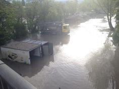 02.05 Spectacle de désolation samedi au bord de l'Arve en crue, à Genève.Photo: Lecteur reporter