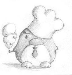 One Piece Penguin II by B-Keks on DeviantArt - One Piece Penguin II by B-Keks.deviantart… on - Cute Animal Drawings, Animal Sketches, Pencil Art Drawings, Cool Art Drawings, Doodle Drawings, Art Drawings Sketches, Disney Drawings, Cartoon Drawings, Doodle Art