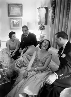 New Years party 1956 by dovima_is_devine_II, via Flickr
