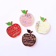 Cute apple enamel pins. Great gift for a teacher