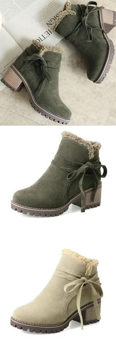 Buy 3 Enjoy 8% OFF Now! (Code: 8OFF) Female Winter Shoes Fur Warm Snow Boots Bootie Boots, Ankle Boots, Warm Snow Boots, Cute Boots, Cute Sandals, Winter Shoes, Sock Shoes, Beautiful Shoes, Fashion Boots