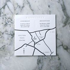 50 Hand Drawn Wedding Maps. Designed and drawn by hand and then Letterpressed onto thick luxurious 300gsm Cotton Card.  10.5 cm x 10.5cm and: