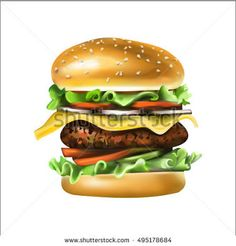 Image result for drawing steak burger