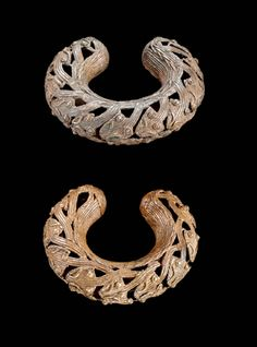 Cameroon | Bracelets from the Bamum people of the Grasslands | Brass | ca. 1900