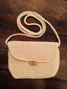 Vintage Small Crochet Purse - Hand Made. $6.99, via Etsy.