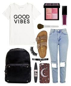 """""""💫"""" by aligator16 ❤ liked on Polyvore featuring Tommy Hilfiger, Topshop, Birkenstock, Madden Girl, Fallon, Maybelline, Smashbox and Givenchy"""