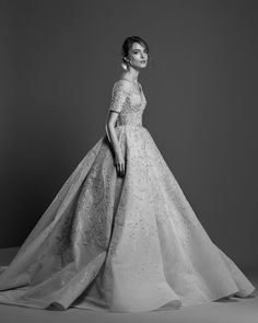 Georges Hobeika 2019 Wedding Dresses short sleeves embellishment elegant ball gown wedding dress #wedding #weddings #bridal #weddingdress #bride
