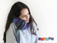 Knitted Neck Warmer , Knit Cowl Scarf , Knit Infinity Scarf, Chunky Yarn Knit, Knitted Neck Wrap, Chunky Knit Cowl, Short Scarf, Bagel Scarf by HowDoYouDoIt on Etsy