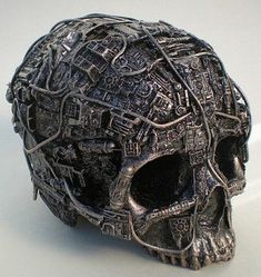 Metal Skull, Metal Art, Cyberpunk, Crane, Memento Mori, Ronde Bosse, Steampunk Fashion, Steampunk Mask, Dieselpunk